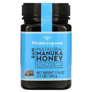 Wedderspoon, Raw Multi-Nectar Manuka Honey, KFactor 12, 1.1 lbs (500 g)