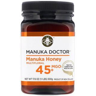 Manuka Doctor, Multi-Nectar Manuka Honey, MGO 45+, 1.1 lbs (500 g)