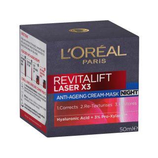 L'Oreal Revitalift Laser X3 Anti Aging Night Cream Mask 50ml