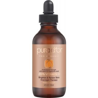 Pura D'or Vitamin C Serum Professional Strength Anti-Aging Skin Therapy for Unisex, 118 ml
