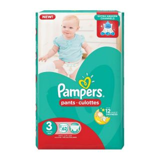 Pampers Pants Size (3) 6-11kg Midi - 62 Count