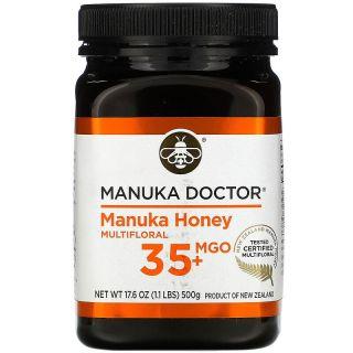Manuka Doctor, عسل المانوكا متعدد النكتار، ميثيل جليوكسال 35+، 17.6 أونصة (500 جم)