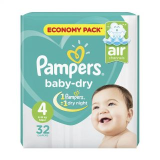 Pampers New Baby Dry Size (4) 9-18kg Maxi