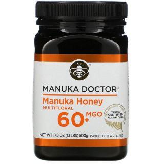 Manuka Doctor, Manuka Honey, Multi-Nectar, Methylglyoxal 60+, 17.6 oz (500 g)
