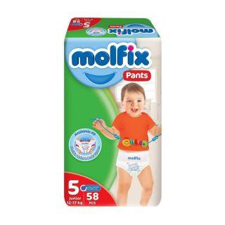 Molfix Pants Size (5) Junior 12-17kg - 58pcs