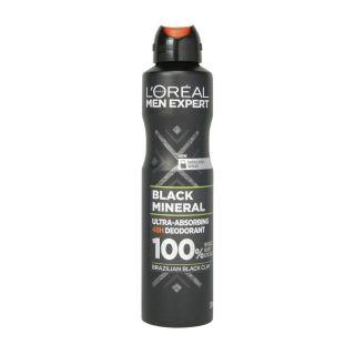 L'Oreal Men Expert Black Mineral Deodorant - 250ml