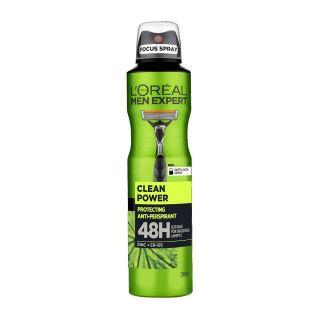 L'Oreal Men Expert Clean Power Deodorant - 250ml