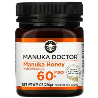 Manuka Doctor, Manuka Honey, Multi-Nectar, Methylglyoxal 60+, 8.75 oz (250 g)