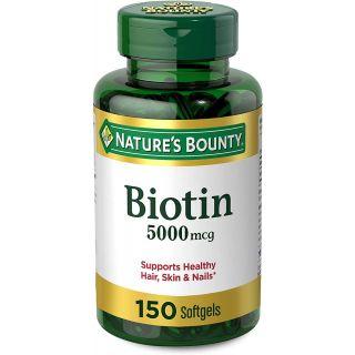 Nature's Bounty Biotin Softgels, 5000 mcg