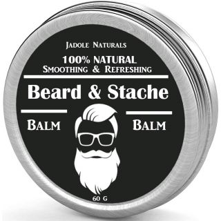 Jadole Naturals Beard Balm Leave-In Conditioner, All Natural
