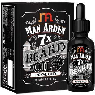 Man Arden 7X Spearmint Beard Oil - 7 Premium Oils For Beard Growth & Nourishment (30ml)