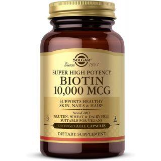 Solgar Biotin 10, 000 Mcg, 120 Vegetable Capsules