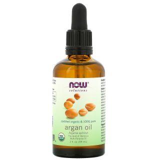 Now Foods, Solutions, Certified 100% Pure Organic Argan Oil, 2 fluid ounces (59 ml)