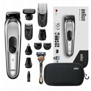 Braun MGK7920TS All-in-one Trimmer, 10-in-1 Trimmer, 8 Attachments And Gillette Fusion5 ProGlide Razor.