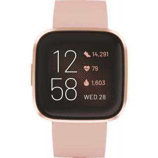 Fitbit Versa 2 Health and Fitness Smartwatch - Petal/Copper Rose Aluminium