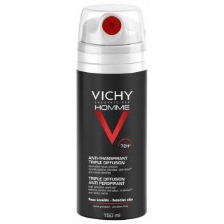 Vichy Homme Triple Diffusion Anti-Perspirant Deodorant Spray 72 Hour, 150 ml