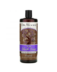 Dr. Woods, Raw Black Soap with Shea Butter Fairtrade, Fair Trade, Original, 32 fl oz (946 ml)