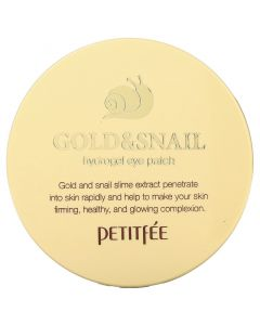 Petitfee, Gold & Snail Extract Water Gel Eye Mask, 60 Count