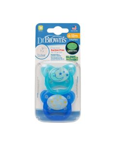 Dr. Brown's PreVent Contour Glow in the Dark Pacifier, Stage 2 (6-12m)