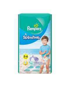 Pampers Splashers Swimming Pants Size (5-6) 14 Kg+ - 10 Count