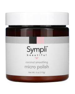 Sympli Beautiful, Fine Particulate Smoothing Coconut Scrub, 4 oz (113 g)