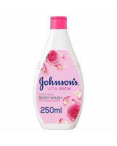 Johnson's Vita-Rich Soothing Rose Water Body Wash  -250ml