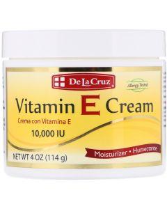 De La Cruz, Vitamin E Cream, 10,000 IU, 4 oz (114 g)