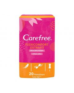 Carefree Flexicomfort Extrafit Delicate Scent Pantyliners 20pcs