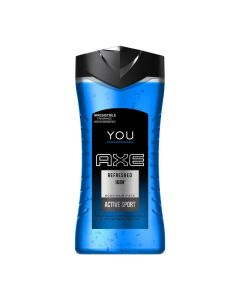 Axe You Refreshed 168H Active Sport 3 In 1 Face,Hair and Body Wash - 250ml