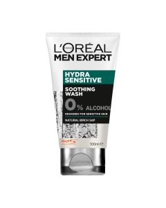 L'Oreal Men Expert Hydra Sensitive Soothing Daily Face Wash 0% Alcohol - 100ml