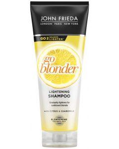 John Frieda Sheer Blonde Go Blonder Lightening Shampoo for Blonde Hair, 250 ml (Packaging May Vary)