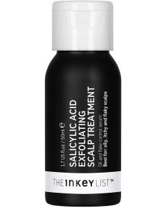 The INKEY List 2% Salicylic Acid Exfoliating Scalp Treatment to Reduce Flakes Itchiness and Control Oiliness 50ml