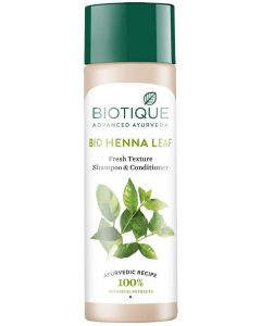 Biotique Henna Leaf Fresh Texture Shampoo and Conditioner, 190ml Leaves hair full of natural and shine Deep nourishment of hairs