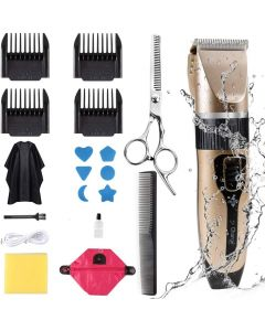 Innoo Tech Professional Hair Clippers for Men Kids, Hair Trimmer Kits Set Cordless USB Rechargeable Five Speed Adjustment Electric Hair Clippers with 4 Guide Combs with Hairdressing Cape & Storage Bag