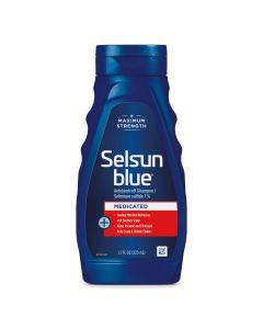 Selsun Blue Medicated Maximum Strength Dandruff Shampoo, 11 Fl Oz, Pack of 1 (60632)