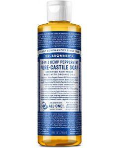 Dr. Bronner's - Pure-Castile Liquid Soap (Peppermint, 237 ml)