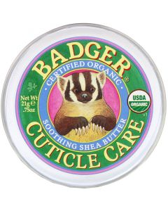 Badger Company, Cuticle Care, Organic Smoothing Shea Butter, 75 oz (21 g)