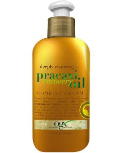 OGX Deeply Restoring + Pracaxi Recovery Oil AntiFrizz LeaveIn Combing Cream with Murumuru Butter SulfateFree Surfactants Conditioning Hair Treatment to Detangle Style Mint, 8 Fl Oz