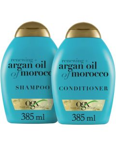 OGX Shampoo & Conditioner, Renewing+ Argan Oil of Morocco, 385ml, Pack of 2