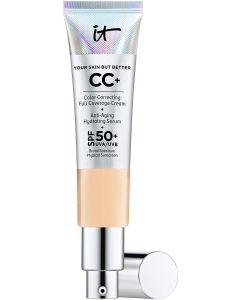 It Cosmetics CC+ Cream SPF 50 (Light Medium) Full Coverage, 1.08 oz / 32 mL
