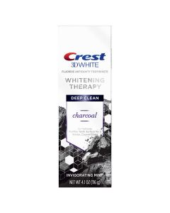 Crest, 3d White Whitening Therapy Deep Clean Toothpaste Invigorating Oz 79353, mint, Charcoal, 4.1 Ounce
