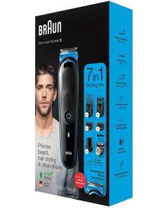 Braun All-in-one trimmer MGK5245, 7-in-1 trimmer, 5 attachments and Gillette Fusion5 ProGlide razor