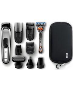 Braun All-in-one Trimmer, 10-in-1 Trimmer, 8 Attachments And Gillette Fusion5 ProGlide Razor - MGK7920