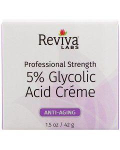 Reviva Labs, 5% Glycolic Acid Cream, Anti Aging, 1.5 oz (42 g)