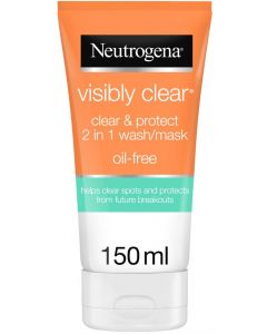 Neutrogena Visibly Clear 2-in1 Facial Wash Mask - 150 ml