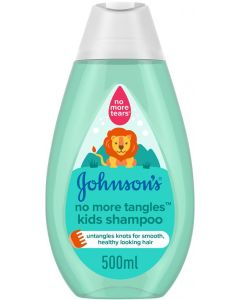 JOHNSON'S Toddler & Kids Shampoo - No More Tangles, Formula Free of Parabens & Dyes, 500ml