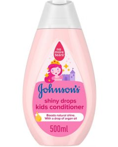JOHNSON'S Toddler & Kids Conditioner - Shiny Drops, Formula Free of Parabens & Dyes, 500ml