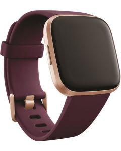 Fitbit Versa 2 Health and Fitness Smartwatch - Bordeaux/Copper Rose Aluminium