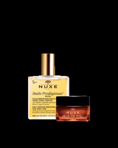 Nuxe My Beauty Set ( Huile Prodigieuse dry -50 Ml +Ultra Nourishing Lip Balm-15 Ml)